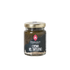 """""""Tartufaio cream"""" - This is a savory and creamy product with champignon mushrooms, truffle, enhanced with olives flavor reveals a tasty ready sauce. Simply warming up you can prepare great starters, sandwiches and first courses made with pasta or risotto."""