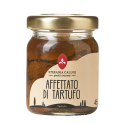 Slices of summer truffle in oil - Basic and unique recipe, one of our range's best seller: sliced truffles ready to be used for every kind of meat, eggs, fish and pasta dishes. The included extra virgin olive oil is recommended to finish the seasoning of each course.