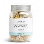 camomile - This infusion of chamomile allows better digestion, and peace of mind for one night.  It exists in particular under an organic range, which attests to its respect for the environment and people.  There are several formats available:  - Box of 10 Organic Pyramids - Distributor of the 20 Organic Pyramids - Box of 60 individual organic sachets - Box of 14 pyramids  - Ecopack of 25 pyramids - 200G Bulk Ecopack - Boxes of 60 individual bags