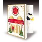 2019 Advent calendar - Discover inside this advent calendar opening like a book and inspired by the fancy Christmas atmosphere of the famous Parisisan restaurant, a collection of delicious chocolate treats.