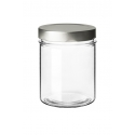 """INNOVATOIN JAR - """"The simplicity of this jar are the main features that will make you appreciate the purity of the glass and the linearity of its design. Quality products find the right place in this container since only a high-end, simple and essential jar can exalt the product inside.  The """"""""easy to empty"""""""" mechanism will allow a more comfortable use giving life to tasty dishes by emptying the content with a single touch."""""""