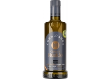 CORNICABRA Casas de Hualdo - Cornicabra is the name of the native olive variety from Castilla la Mancha region and we extract a juice of strong character, high intensity, marked spiciness and bitterness. Our Cornicabra has been selected as best oil of Castilla la Mancha every year since 2015 and has been awarded on several occasions as healthiest olive oil thanks to its high content of polyphenols. Endive, apple or green almond are some of its organoleptic notes. Certified by the D.O.P. Montes de Toledo.