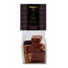 Assorted Christmas Gingerbreads - Displayed in a Maxim's personalized transparent small bag, discover an assortment of 5 gingerbreads:   •plain • covered in milk chocolate • covered in dark chocolate • with hazelnuts •with almonds and ginger